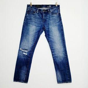 J Crew Slim Broken In Boyfriend Jeans Distressed